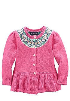 Ralph Lauren Childrenswear Pink Cardigan