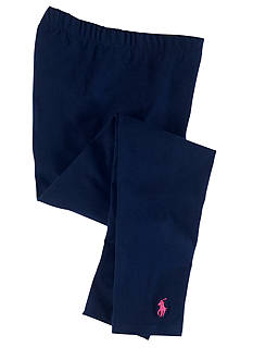 Ralph Lauren Childrenswear Navy Solid Legging