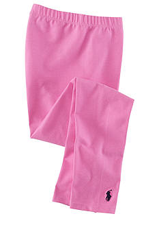 Ralph Lauren Childrenswear Pink Solid Legging