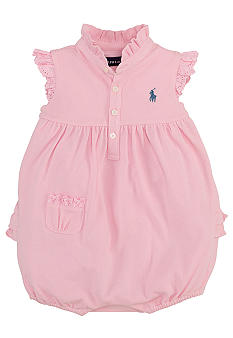 Ralph Lauren Childrenswear Floral Embroidered Bubble Shortall