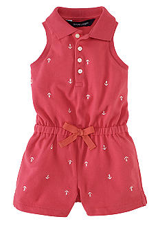 Ralph Lauren Childrenswear Nautical Embroidered Romper
