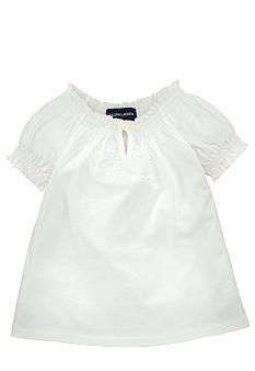Ralph Lauren Childrenswear Floral Embroidered Peasant Top