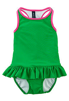 Ralph Lauren Childrenswear Sporty Racerback One-Piece Swimsuit