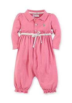 Ralph Lauren Childrenswear Ruffled Polo Collar Coverall