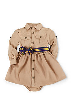 Ralph Lauren Childrenswear Equestrian Twill Shirtdress & Bloomers
