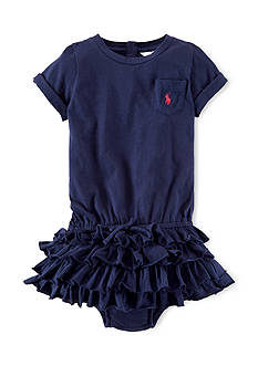 Ralph Lauren Childrenswear Ruffled Tee Shirtdress & Bloomers