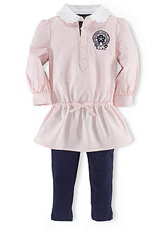 Ralph Lauren Childrenswear Striped Tunic & Stretch Legging Set