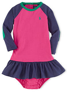 Ralph Lauren Childrenswear Raglan Colorblocked Dress & Bloomers