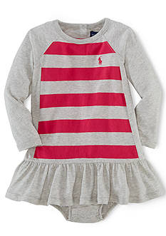 Ralph Lauren Childrenswear Striped Colorblocked Dress & Bloomers