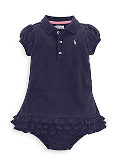 Ralph Lauren Childrenswear 2-Piece Ruffled Polo Dress and Bloomer Set