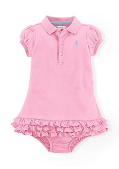 Ralph Lauren Childrenswear 2-Piece Ruffled Dress with Bloomer Set