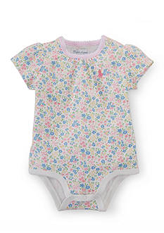 Ralph Lauren Childrenswear Floral-and-Bow Bodysuit