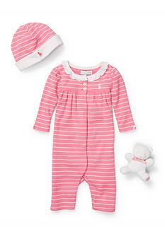 Ralph Lauren Childrenswear 3-Piece Striped Coverall Set