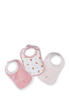 Ralph Lauren Childrenswear Bib Set Toddler Girls