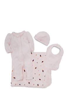 Ralph Lauren Childrenswear 4-Piece Coverall and Accessories Gift Set Girls 3-9 Months