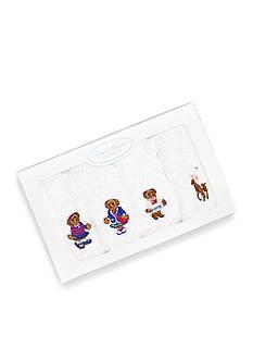 Ralph Lauren Childrenswear 4-Pack Cotton Terry Washcloth Set