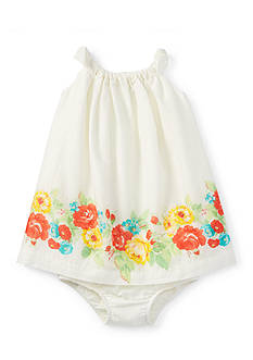 Ralph Lauren Childrenswear 2-Piece Floral Dress and Bloomer Set