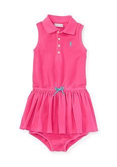 Ralph Lauren Childrenswear 2-Piece Polo Dress and Bloomer Set - Baby/Infant Girl