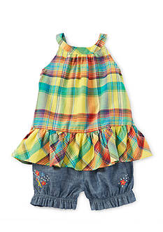 Ralph Lauren Childrenswear 2-Piece Plaid Top and Short Set