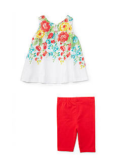Ralph Lauren Childrenswear 2-Piece Tank and Cropped Legging Set