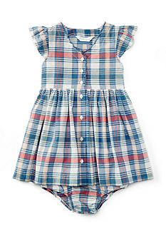 Ralph Lauren Childrenswear Madras Plaid Dress - Baby/Infant Girl