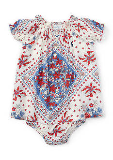 Ralph Lauren Childrenswear Bandana Dress - Baby/Infant Girl