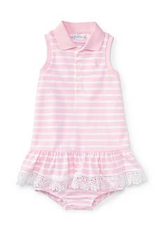 Ralph Lauren Childrenswear Mesh Stripe Polo Dress