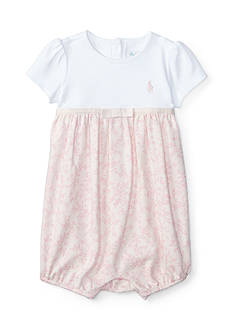 Ralph Lauren Childrenswear Ruffle Shortall Baby/Infant Girl