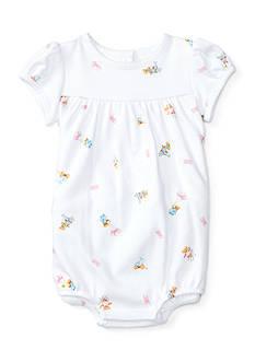 Ralph Lauren Childrenswear Polo Bear Shortall Baby/Infant Girl
