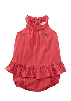 Ralph Lauren Childrenswear Ruffle Romper - Baby/Infant Girl