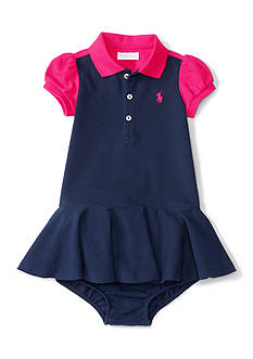 Ralph Lauren Childrenswear Mesh Dress Baby/Infant Girl