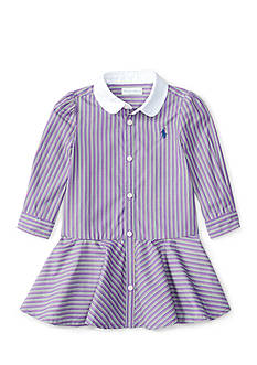 Ralph Lauren Childrenswear Poplin Shirt Dress Baby/Infant Girls