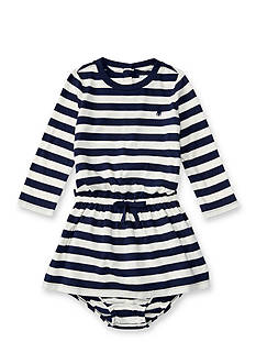 Ralph Lauren Childrenswear Jersey Stripe Dress Baby/Infant Girl
