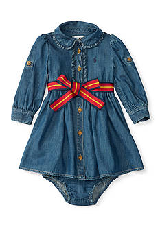 Ralph Lauren Childrenswear Denim Shirtdress Baby/Infant Girl
