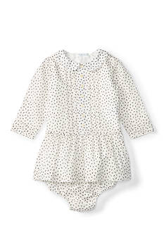 Ralph Lauren Childrenswear Pleated Print Dress Baby/Infant Girl