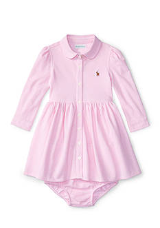 Ralph Lauren Childrenswear Knit Shirt Dress Baby/Infant Girls