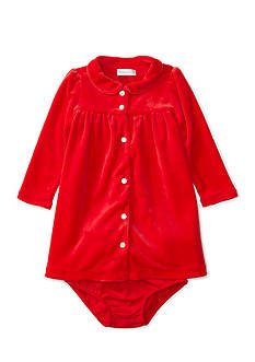 Ralph Lauren Childrenswear Velour Solid Knit Dress and Bloomers