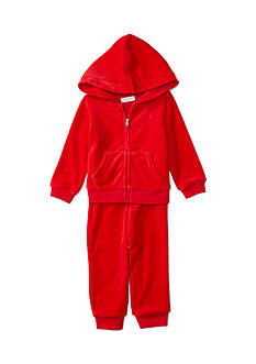 Ralph Lauren Childrenswear Velour 2-Piece Hoodie and Pant Set