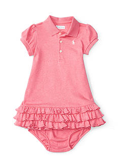 Ralph Lauren Childrenswear Ruffle Dress Baby/Infant GIrl