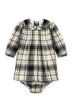 Ralph Lauren Childrenswear Plaid Pintuck Dress