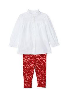 Ralph Lauren Childrenswear 2-Piece Top and Floral Leggings Set