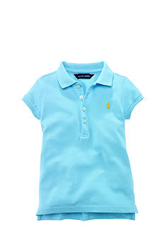 Ralph Lauren Childrenswear Mesh Polo with Pony Player Toddler Girls