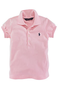 Ralph Lauren Childrenswear Stretch Mesh Polo Toddler Girl