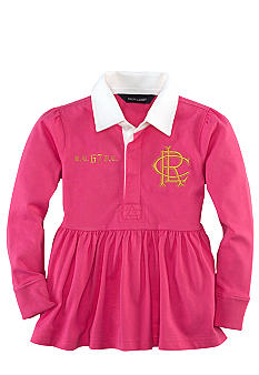 Ralph Lauren Childrenswear Rugby Peplum Shirt Toddler Girls