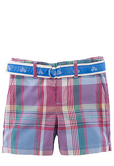 Ralph Lauren Childrenswear Madras Plaid Bermuda Short Toddler Girls