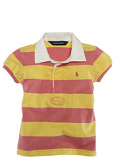 Ralph Lauren Childrenswear Striped Rugby Shirt Toddler Girls