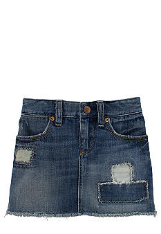 Ralph Lauren Childrenswear Patchwork Denim Skirt Toddler Girls