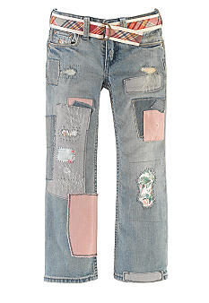 Ralph Lauren Childrenswear Patchwork Bootcut Jean Toddler Girls