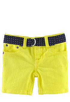 Ralph Lauren Childrenswear Neon Denim Short Toddler Girls