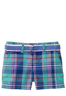 Ralph Lauren Childrenswear Preppy Madras Bermuda Short Toddler Girls